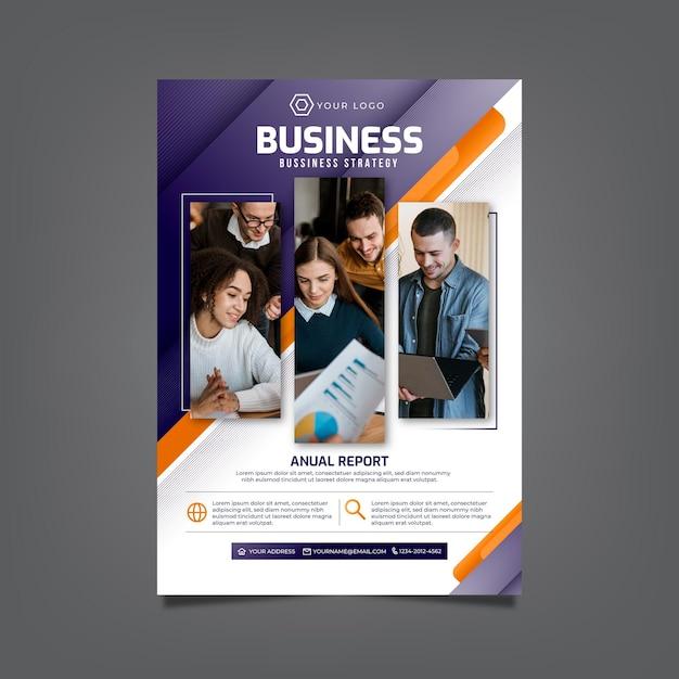 Modelo de panfleto comercial Vetor Premium