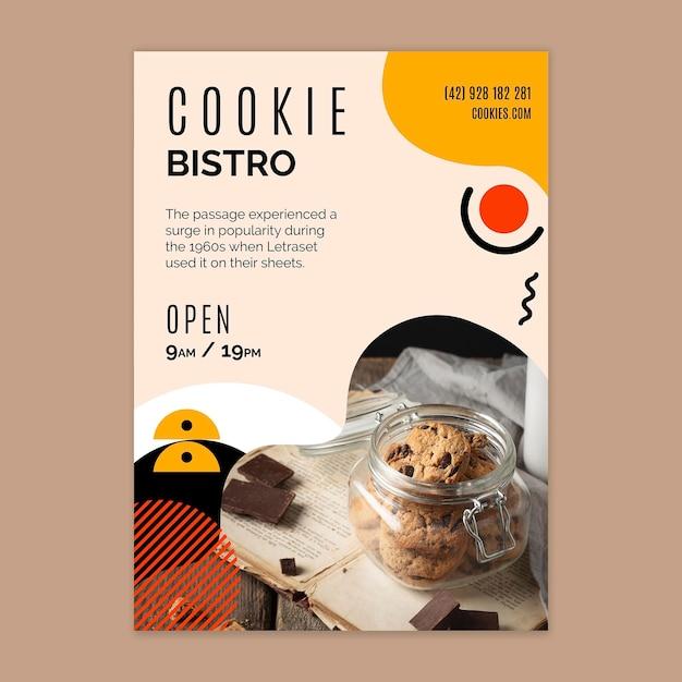 Modelo de panfleto de cookies Vetor grátis