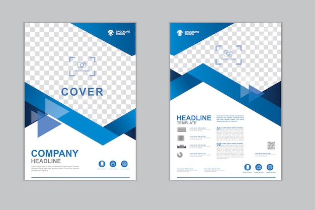 Modelo de panfleto de empresa Vetor Premium