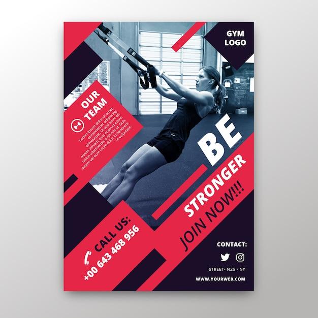 Modelo de panfleto de esporte com foto Vetor grátis