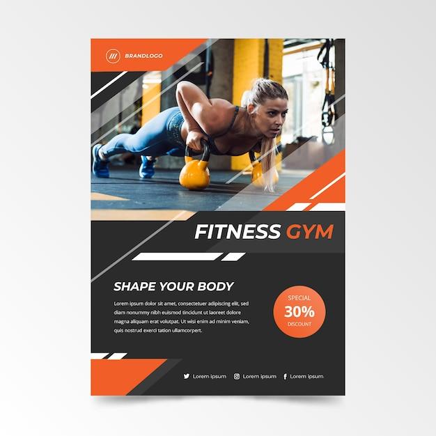 Modelo de panfleto de esporte com imagem Vetor grátis