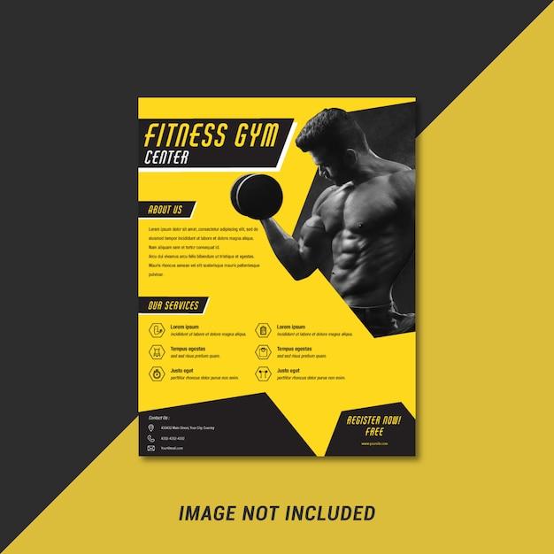 Modelo de panfleto de esporte Vetor Premium