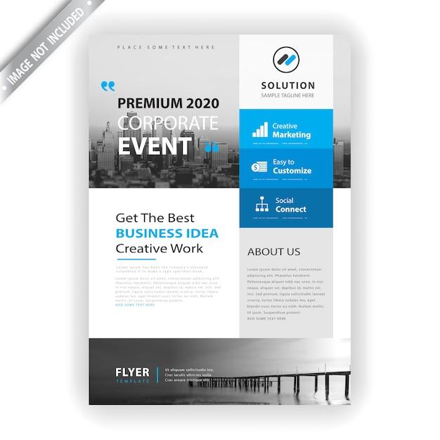 Modelo de panfleto de evento corporativo Vetor grátis