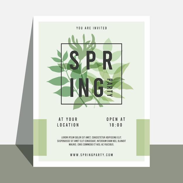 Modelo de panfleto de festa de primavera Vetor grátis