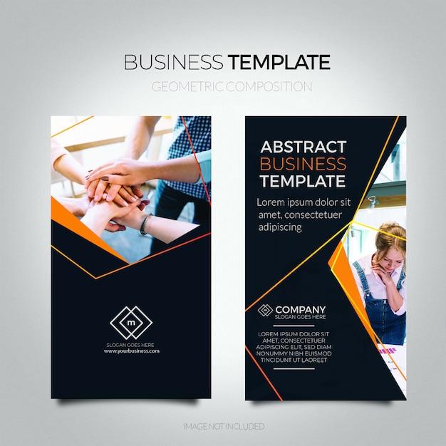 Modelo de panfleto de negócio abstrato. Vetor grátis