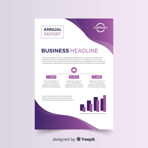 Modelo de panfleto de negócios abstratos coloridos Vetor grátis