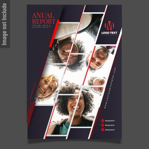 Modelo de panfleto de negócios com fotos de mosaico Vetor Premium