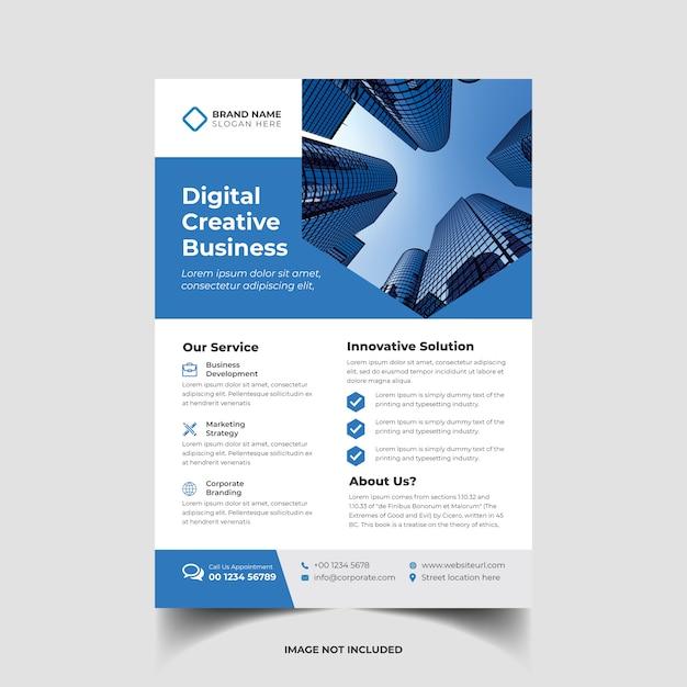 Modelo de panfleto de negócios criativos corporativos Vetor Premium