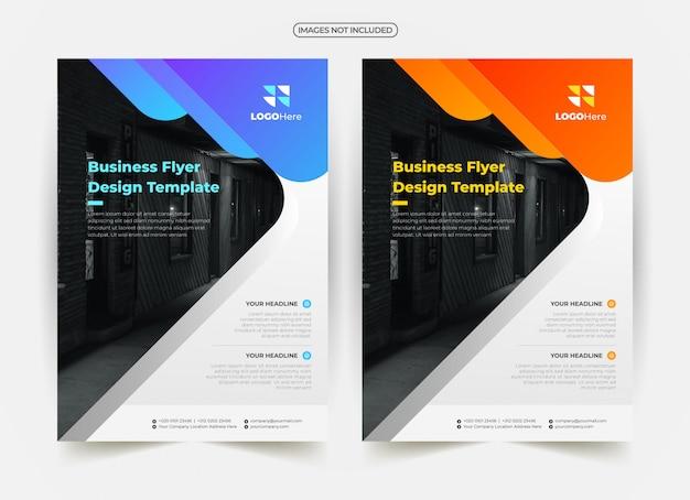 Modelo de panfleto de negócios criativos Vetor Premium