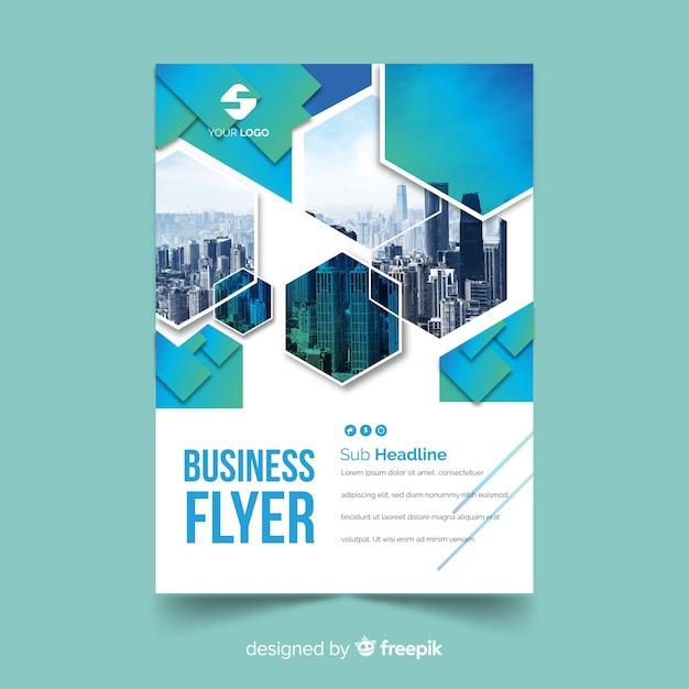 Modelo de panfleto de negócios de mosaico Vetor grátis