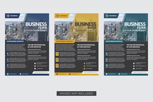 Modelo de panfleto de negócios design elegante Vetor Premium