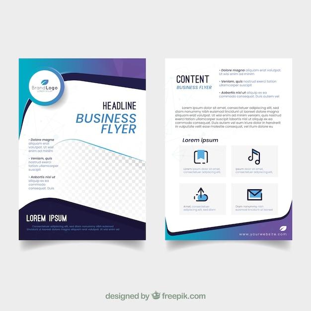 Modelo de panfleto de negócios elegante com design abstrato Vetor grátis