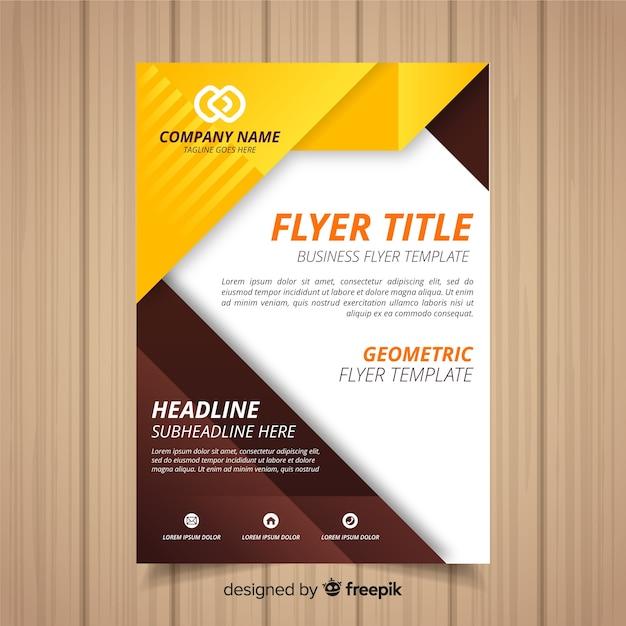 Modelo de panfleto de negócios modernos com desenho geométrico Vetor grátis