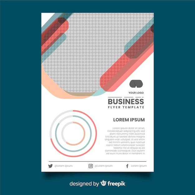 Modelo de panfleto de negócios plana Vetor grátis