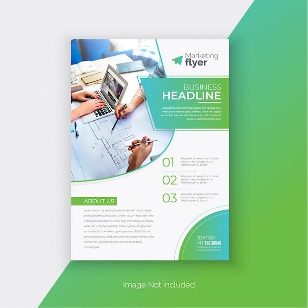 Modelo de panfleto de negócios Vetor Premium