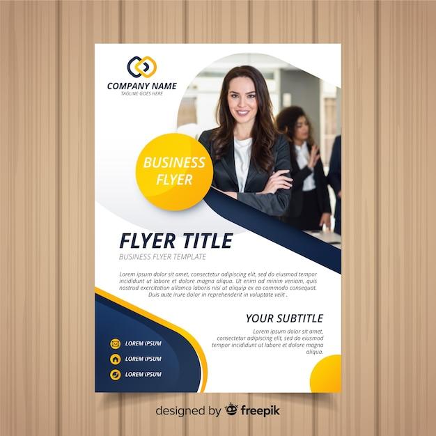 Modelo de panfleto de negócios Vetor grátis