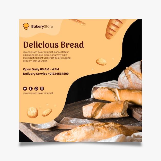 Modelo de panfleto de pão Vetor grátis
