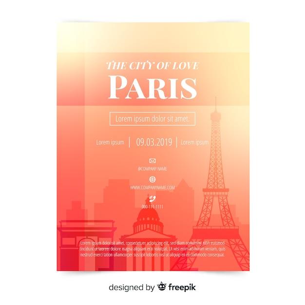 Modelo de panfleto de paris Vetor grátis