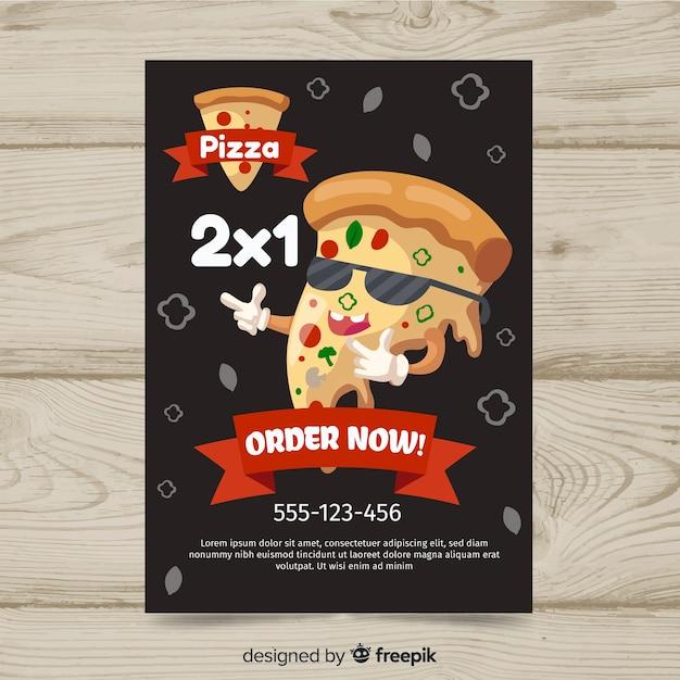 Modelo de panfleto de pizza Vetor grátis