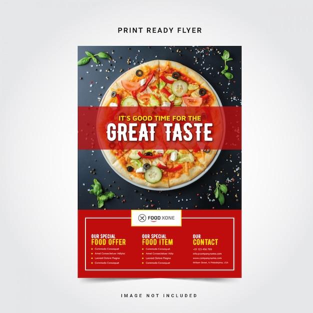 Modelo de panfleto de restaurante Vetor Premium