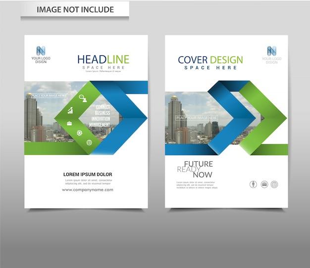 Modelo de panfleto folheto de fundo abstrato vector Vetor Premium