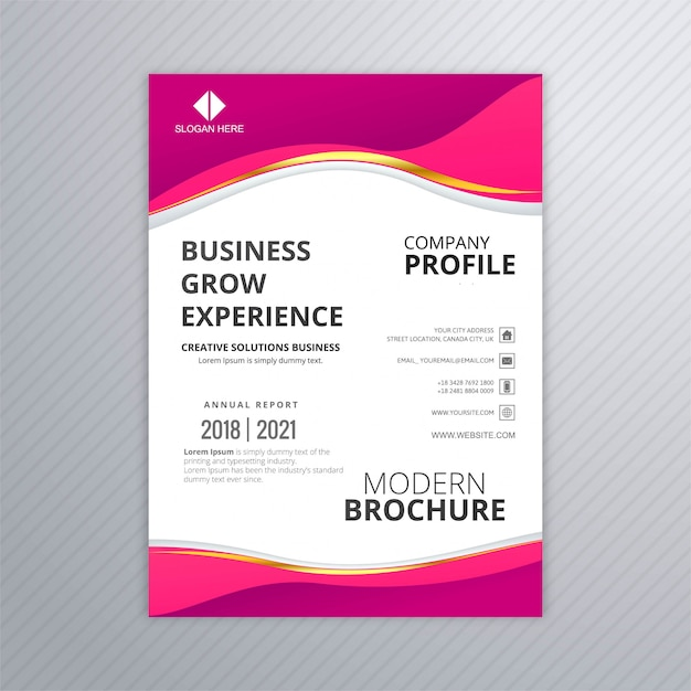 Modelo de panfleto profissional de negócios Vetor grátis