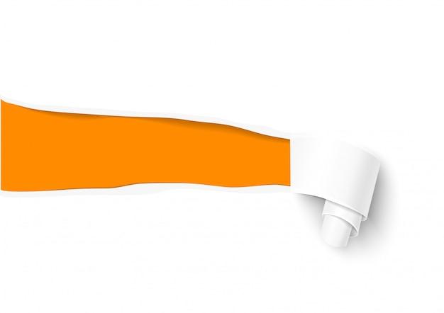 Modelo de papel rasgado para venda promocional e publicidade Vetor Premium