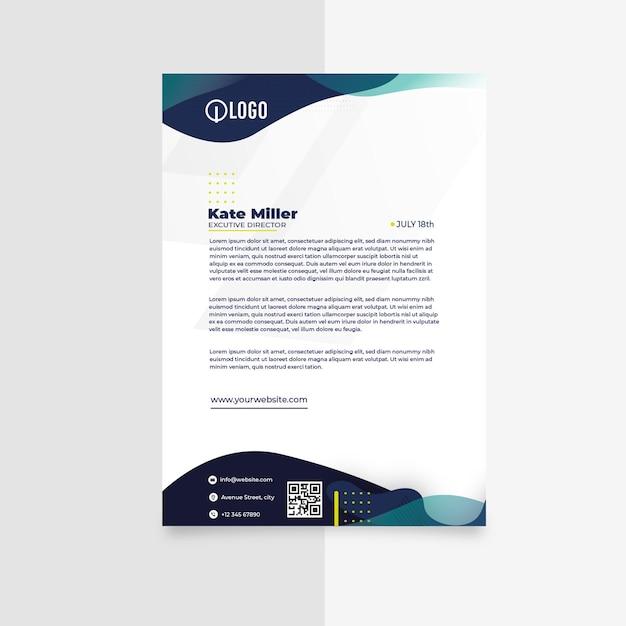 Modelo de papel timbrado comercial de marketing Vetor grátis