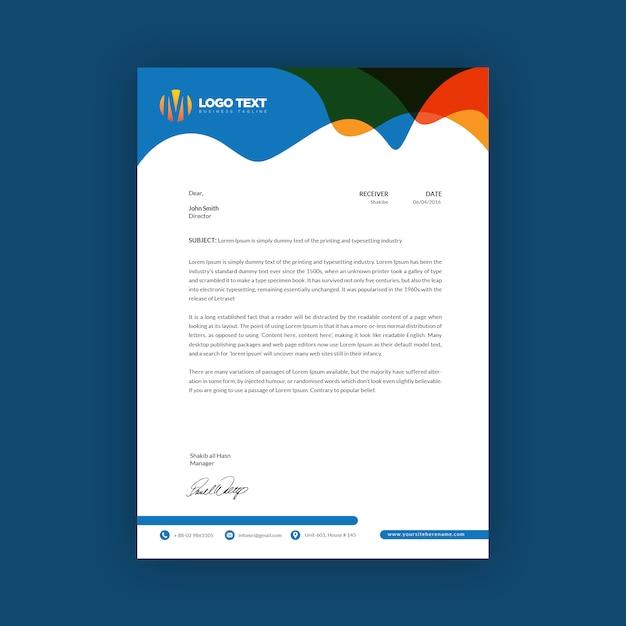 Modelo de papel timbrado - criativo Vetor Premium