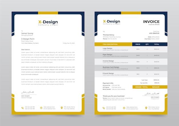 Modelo de papel timbrado de negócios corporativos Vetor Premium