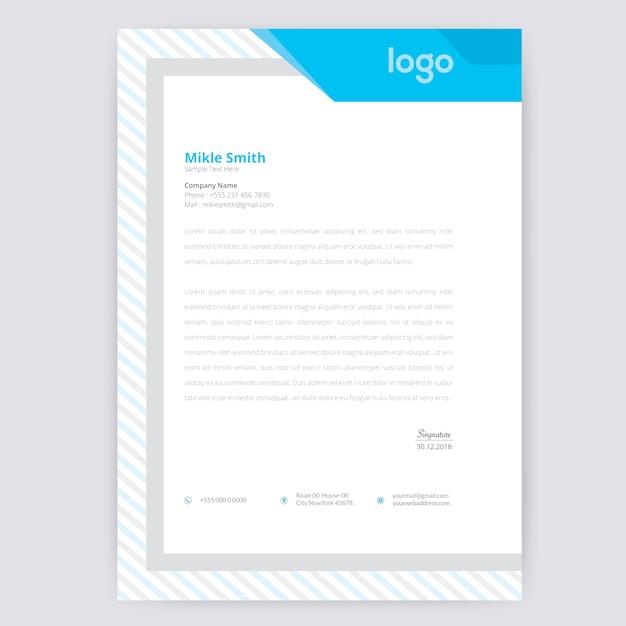 Modelo de papel timbrado - resumo Vetor Premium