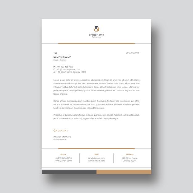 Modelo de papel timbrado Vetor Premium