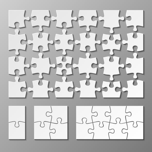 Modelo de peça de quebra-cabeça isolada. jigsaw piece puzzle object illustration Vetor Premium
