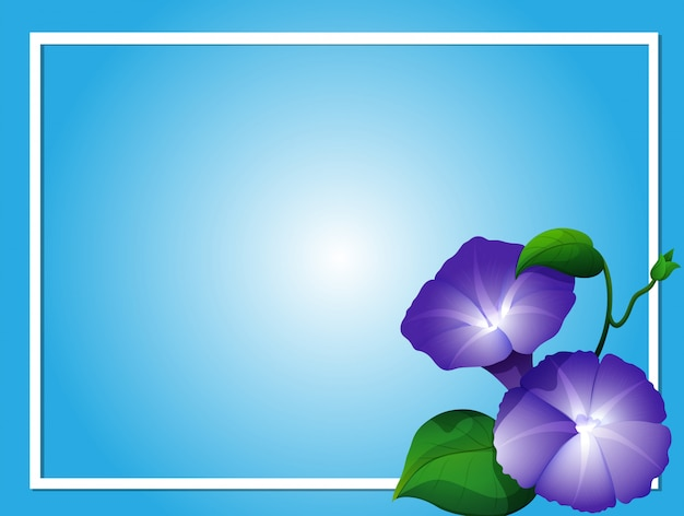 Modelo De Plano De Fundo Azul Com Flores De Gl Ria Da Manh Baixar
