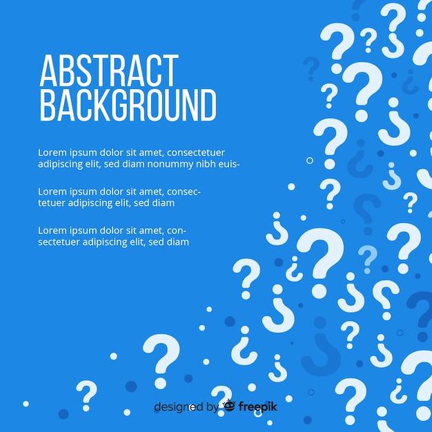 Modelo de plano de fundo azul pergunta pergunta Vetor grátis
