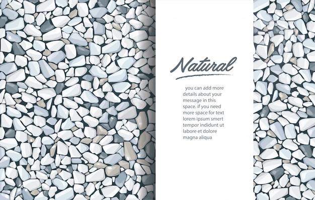 Modelo de plano de fundo cinza textura de cascalho Vetor Premium