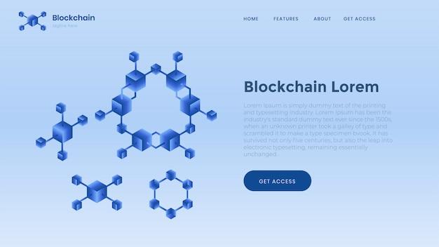 Modelo de plano de fundo de blockchain. finanças e dinheiro digital. Vetor Premium