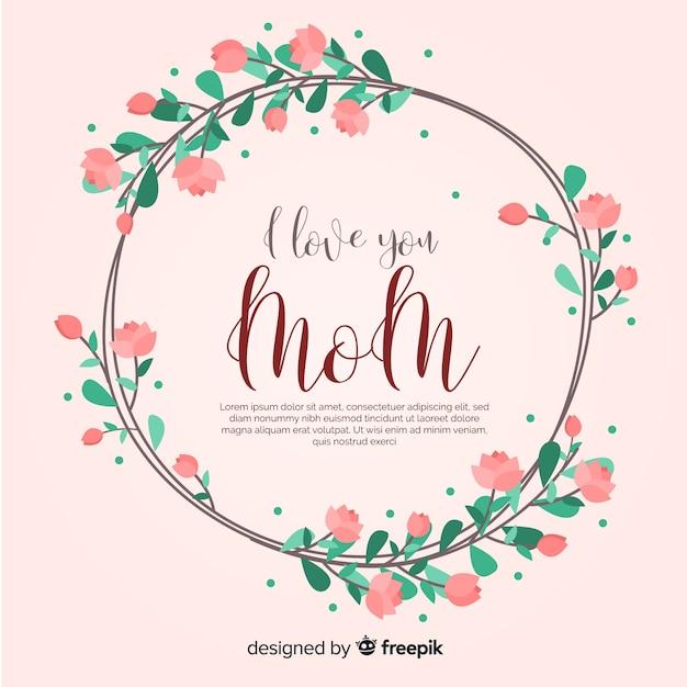 Modelo de plano de fundo floral do dia das mães Vetor grátis