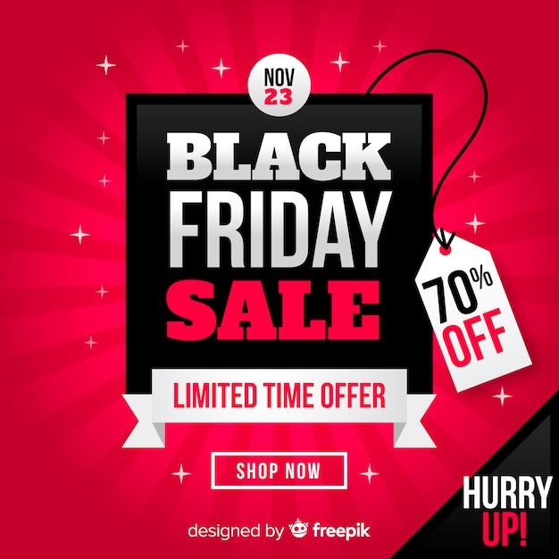 Modelo de plano de fundo preto vendas sexta-feira Vetor grátis