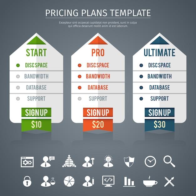 Modelo de plano de preços Vetor grátis
