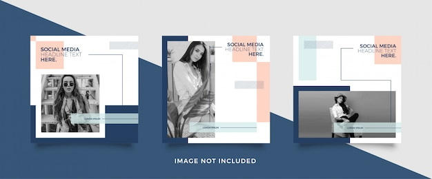 Modelo de postagem de mídia social de moda minimalista Vetor Premium