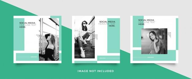 Modelo de postagem de mídia social de moda Vetor Premium