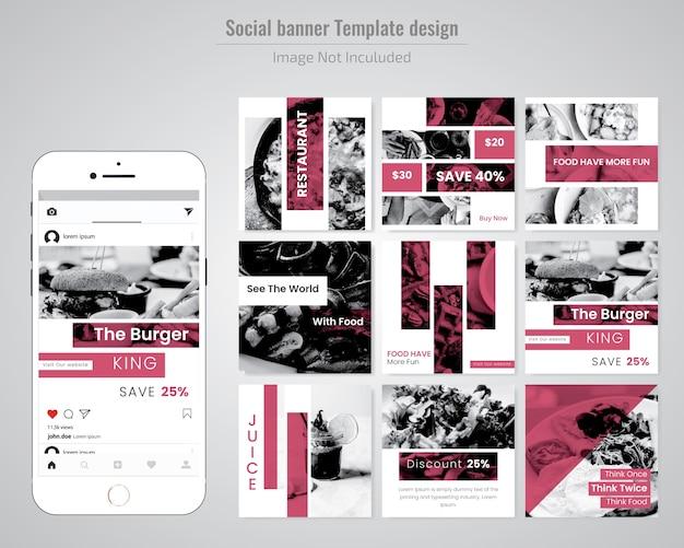 Modelo de postagem de mídia social de venda de moda Vetor Premium