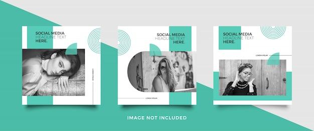 Modelo de postagem de mídia social minimalista Vetor Premium