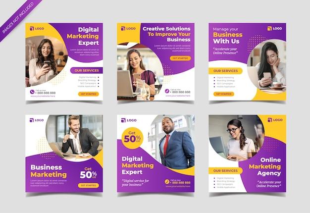 Modelo de postagem de mídia social para agência de marketing digital Vetor Premium