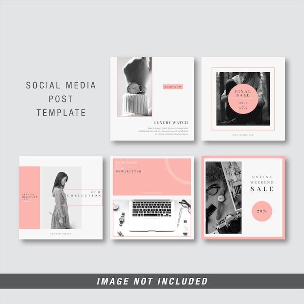 Modelo de postagem de mídia social Vetor Premium