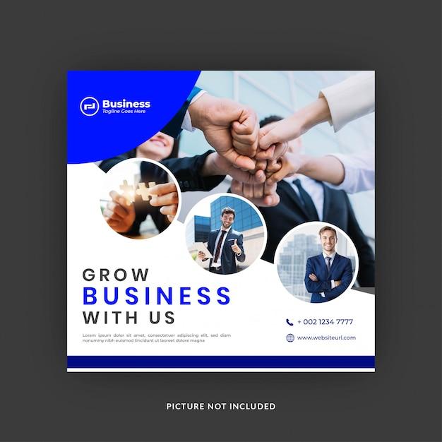 Modelo de postagem de mídias sociais de negócios Vetor Premium