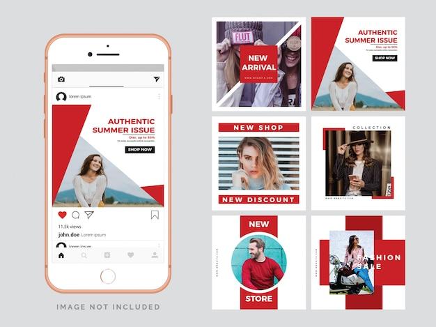 Modelo de postagem de moda social media Vetor Premium