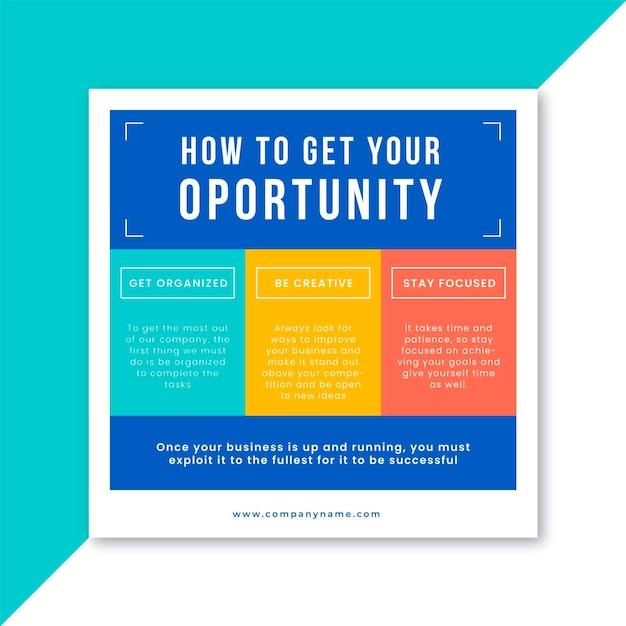 Modelo de postagem do facebook para negócios Vetor grátis