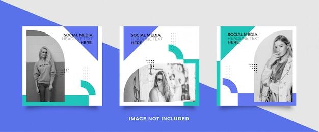 Modelo de postagem editável social media banners for digital marketing. Vetor Premium